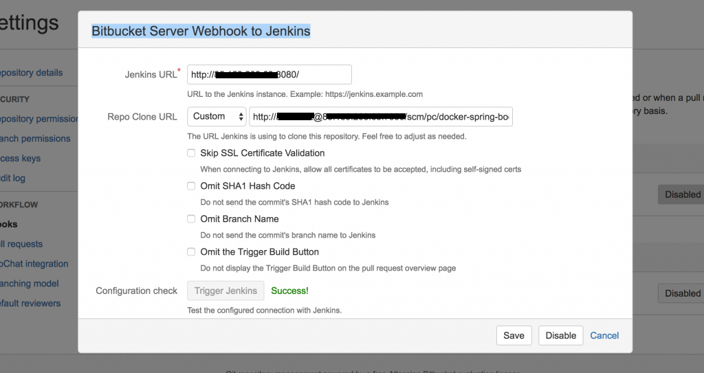 How to enable jenkins to auto build with BitBucket server